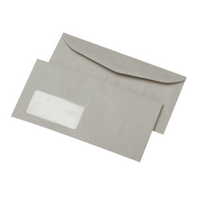 Briefumschläge C6/5, gummiert, mit Fenster, 80 g/m², recycelt