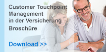 Customer Touchpoint Management in der Verscherung Broschüre