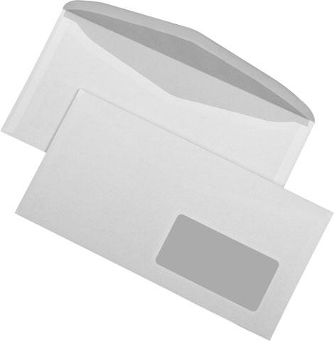 Kuvertierhüllen C6/5 Fenster rechts, nassklebend