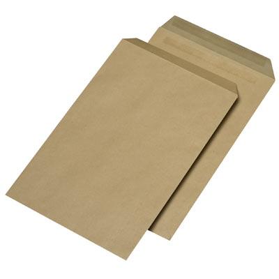 Briefumschläge C4, selbstklebend, ohne Fenster, 90g/m², braun/natron