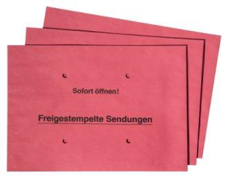 Sammelbriefumschläge B4, 162 x 229 mm, rot